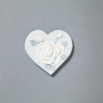 Marturii Magnet  inimioara cu trandafir